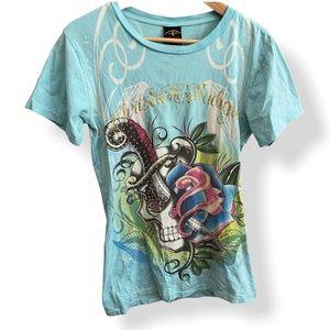 ED HARDY T-Shirt | Christian Audigier Skull Design